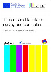 Cover of the document: The personal facilitator survey and curriculum